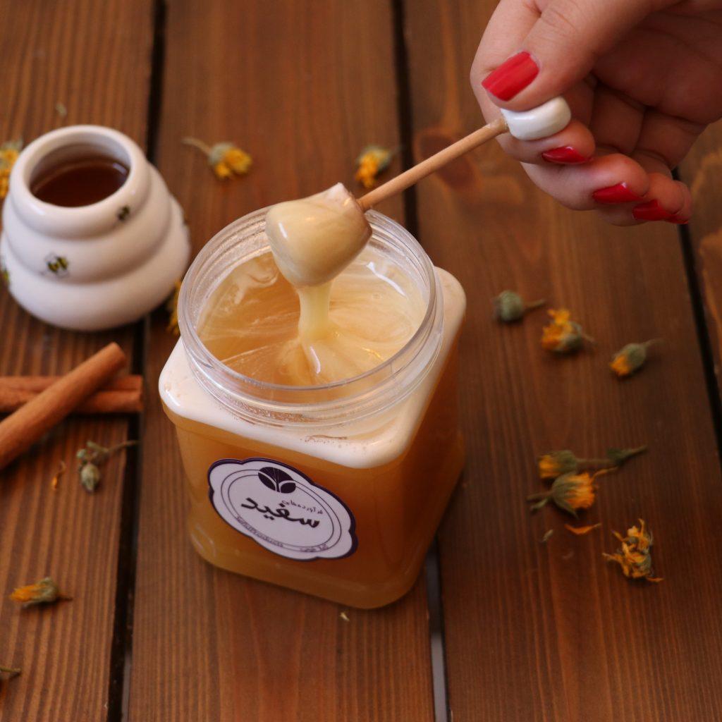 خرید عسل خامهای گون | خرید عسل طبیعی خامهای | قیمت عسل خامهای | نحوه تهیه عسل خامهای | خواص عسل خامهای