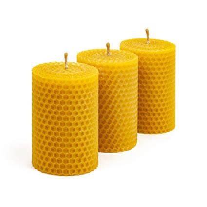 شمع با موم عسل